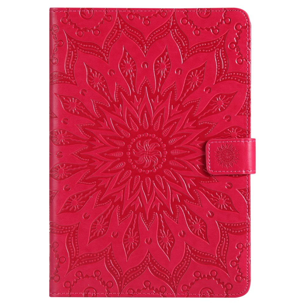 Online Sun Flower Printing Design Pu Leather Flip Wallet Lanyard Protective Case for iPad Mini 1 / 2 / 3