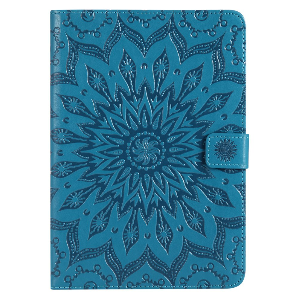 Shop Sun Flower Printing Design Pu Leather Flip Wallet Lanyard Protective Case for iPad Mini 1 / 2 / 3
