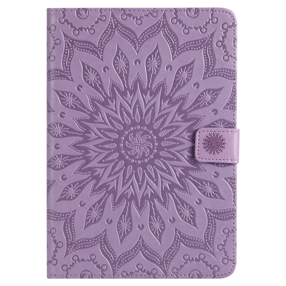 Unique Sun Flower Printing Design Pu Leather Flip Wallet Lanyard Protective Case for iPad Mini 1 / 2 / 3