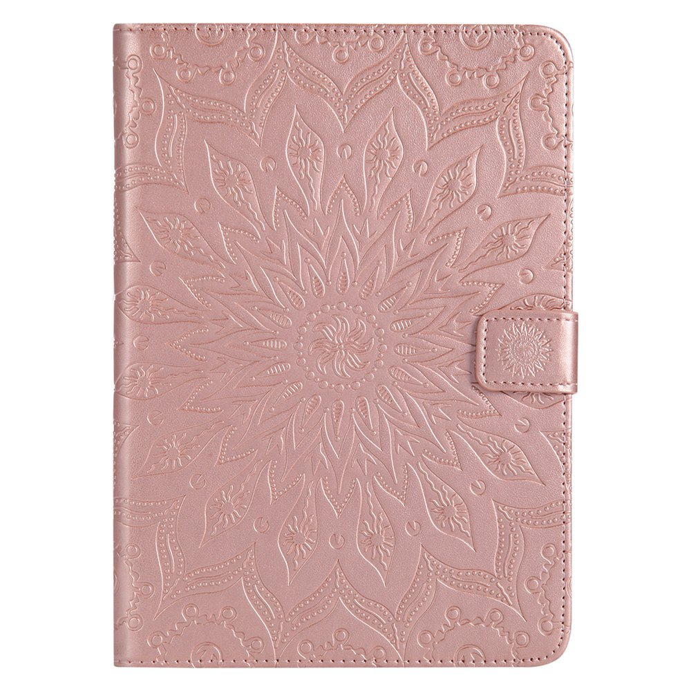 Fancy Sun Flower Printing Design Pu Leather Flip Wallet Lanyard Protective Case for iPad Mini 1 / 2 / 3
