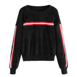 Women's Fashion Large Size Gold Velvet Thread Loose Sweatshirt -