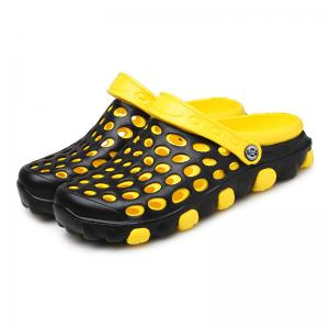 Men Hollow Out Breathable PVC Slippers -