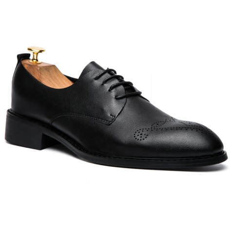 Discount Single Layer Soft Leather Sculpted English Style Leather Shoes