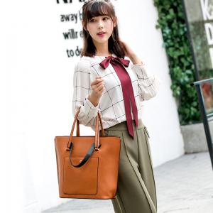 Simple Bag Handbag Shoulder Messenger Vertical Bucket Retro Casual All-match Tide -