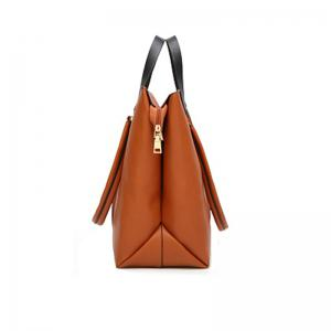 Simple Tote Retro Large Color Tassel Bag -