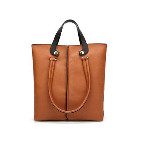 Fashion Simple Tote Retro Large Color Tassel Bag
