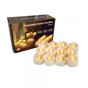 Set of 6pcs LED candles with drips with Timer -