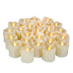 Set of 6pcs LED Big Votive with Timer -