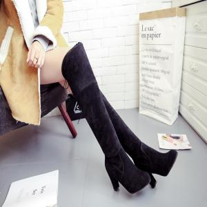 Thigh-high Heels With Women's Boots -
