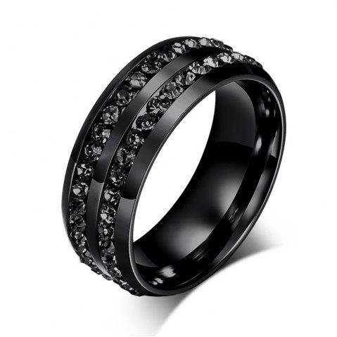 Best Men's Fashion Wild Black Diamond Titanium Steel Ring