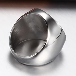 Stainless Steel Cast Masonic Memorial Ring Religious Jewelry -