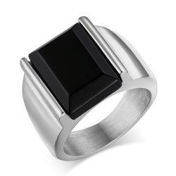 Men's Stylish Titanium Steel High-Quality Plating 18K Gold Ring -