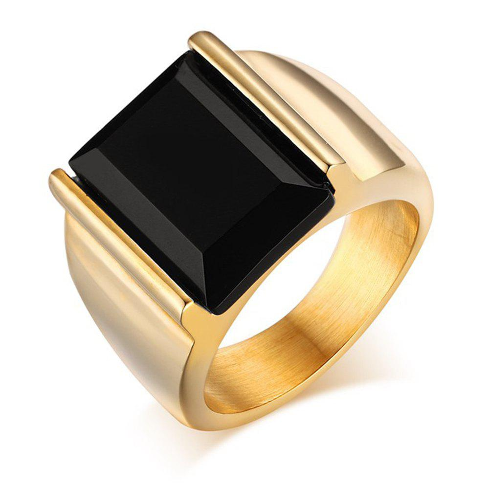 New Men's Stylish Titanium Steel High-Quality Plating 18K Gold Ring