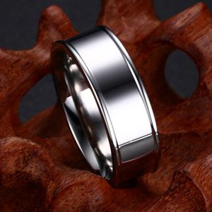 Titanium Steel Ring New Simple Concave Type Men's Ring Stainless Jewelry -