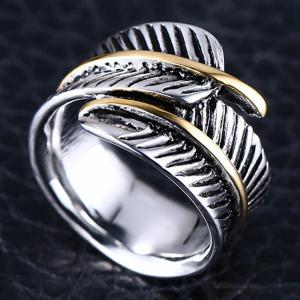 Original Personalized Feather Ring Titanium Steel Wild Fashion Accessories -