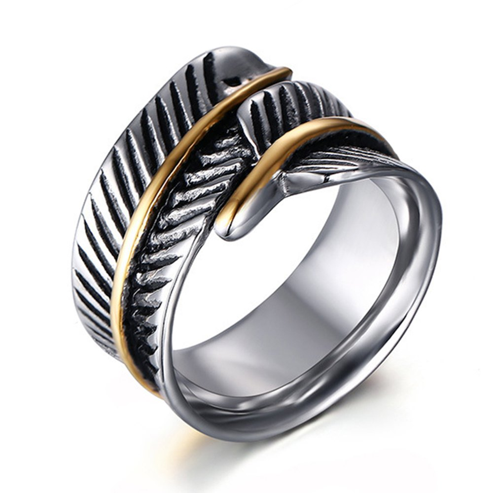 Discount Original Personalized Feather Ring Titanium Steel Wild Fashion Accessories