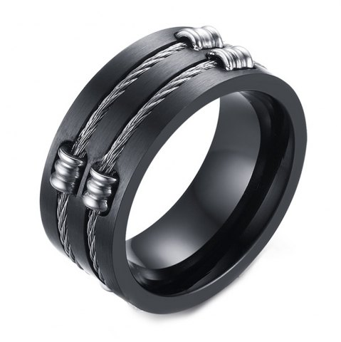 Online Original Tide Brand Stainless Steel Black Ring Men's Tail Ring