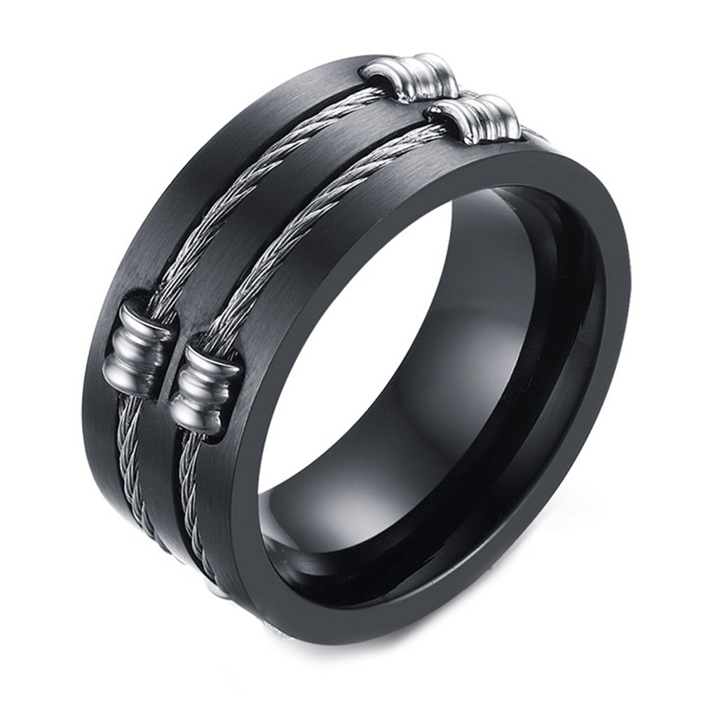 Buy Original Tide Brand Stainless Steel Black Ring Men's Tail Ring