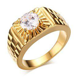 Fashion Diamond Zircon Ring Stainless Steel Men's Jewelry -