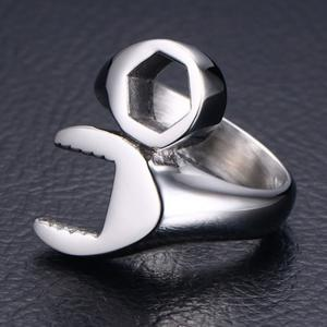 Trendy Titanium Steel Wrench Ring Men's Personalized Jewelry -
