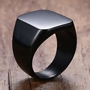 Men's Polished Titanium Steel Ring Personalized Wild Jewelry -