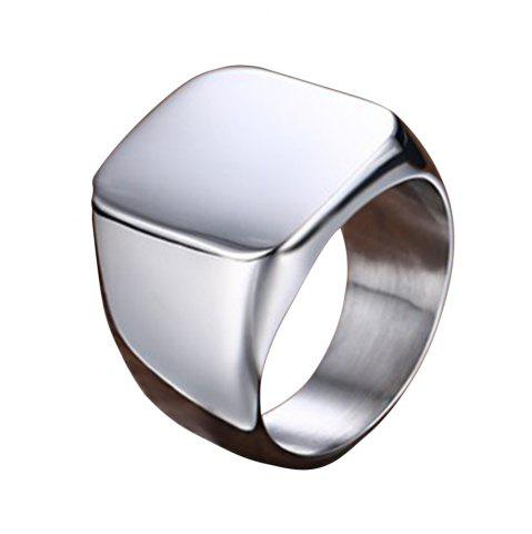 Shops Men's Polished Titanium Steel Ring Personalized Wild Jewelry