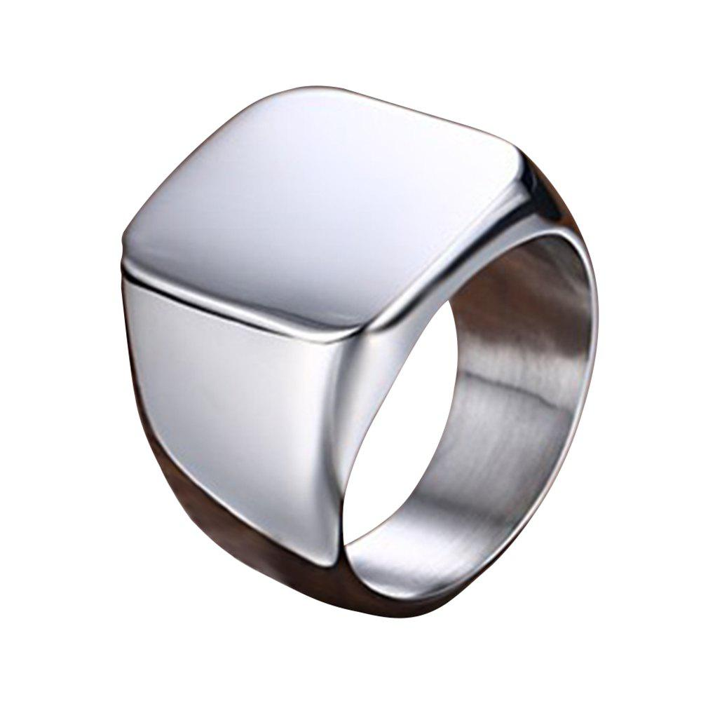 Unique Men's Polished Titanium Steel Ring Personalized Wild Jewelry
