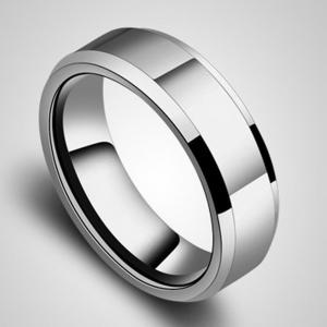 Glossy Solid Couple Ring Titanium Steel Jewelry Simple Personality Jewelry -
