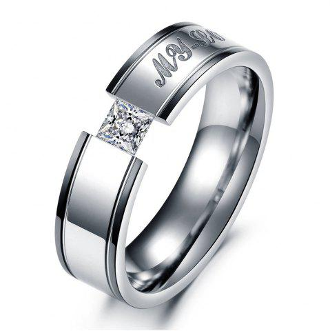 Affordable Stylish Personality Couple Ring Diamond Titanium Steel Jewelry