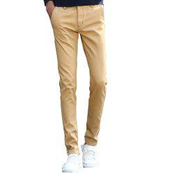 Men's Casual Pants Comfy Solid Color Chic Thickened Pants -