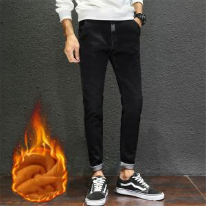 Men's Jeans Comfy Fashion All Match Thickened Warm Jeans -