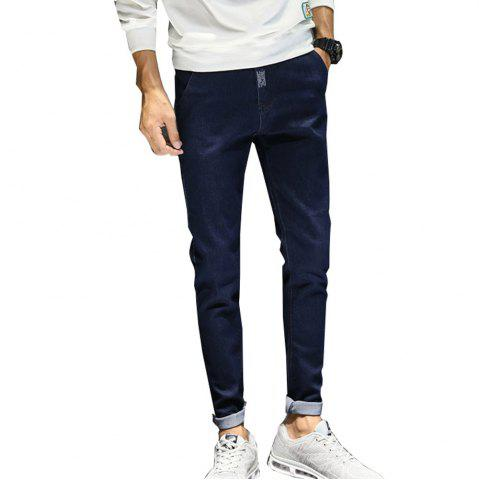 Affordable Men's Jeans Comfy Fashion All Match Thickened Warm Jeans