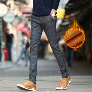 Men's Casual Pants Comfy Thickened All Match Warm Pants -