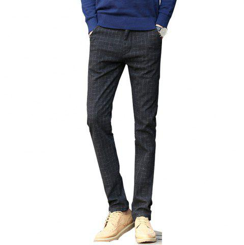 Trendy Men's Casual Pants Comfy Thickened All Match Warm Pants