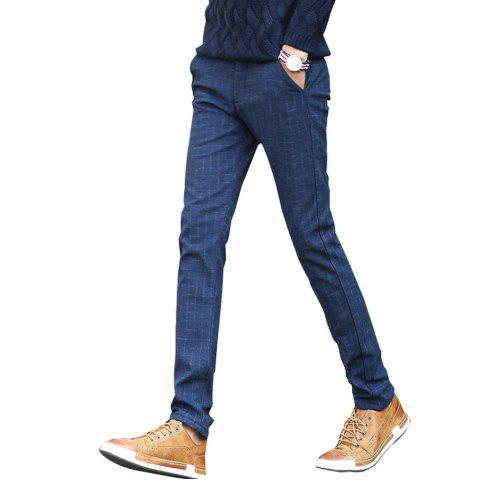 Fashion Men's Casual Pants Comfy Thickened All Match Warm Pants