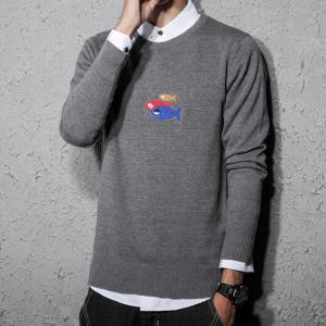 Men's Sweater O Neck High Quality Long Sleeve Knitwear -