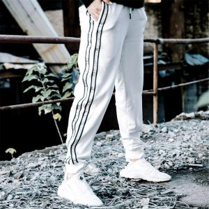 Men's Casual Pants Comfy Drawstring Fashion Color Block All Match Pants -