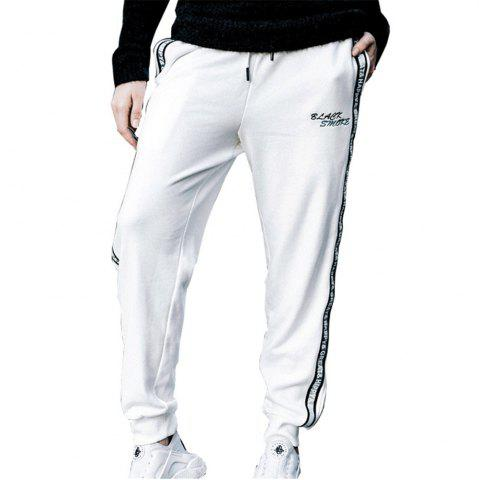 Online Men's Casual Pants Comfy Drawstring Fashion Color Block All Match Pants