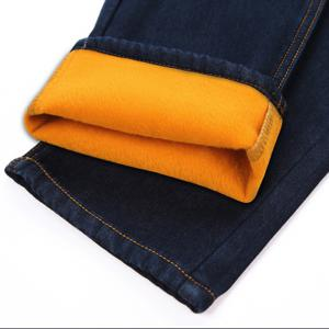 Men's Jeans Comfy Solid Color All Match Thickened Fashion Jeans -