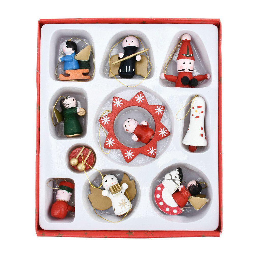 Lovely Christmas Tree Decorations Wooden Small Doll Pendant New Year Decor 244174901
