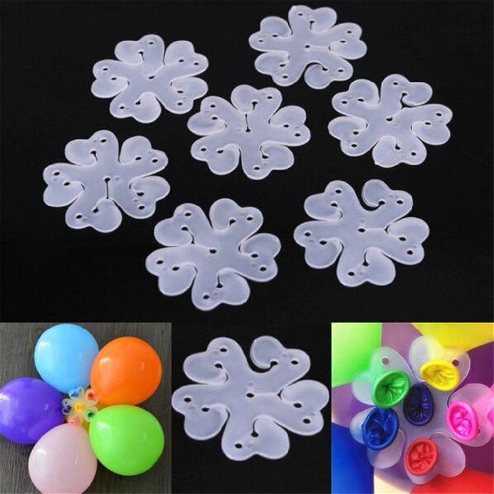 Trendy 10PCS 6.5CM Useful Flower Shape Balloons Sealing Clip Ballon Buttons Clips Wedding/Birthday/Christmas Party Decoration S