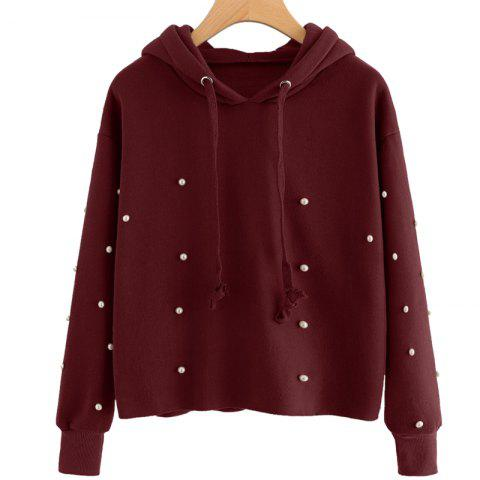 New Beading Long Sleeve Thickning Hoodie