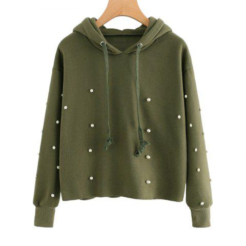 Chic Beading Long Sleeve Thickning Hoodie