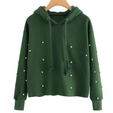 Shops Beading Long Sleeve Thickning Hoodie