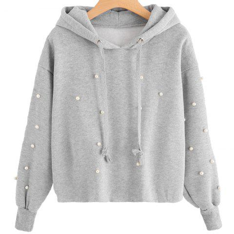 Unique Beading Long Sleeve Thickning Hoodie