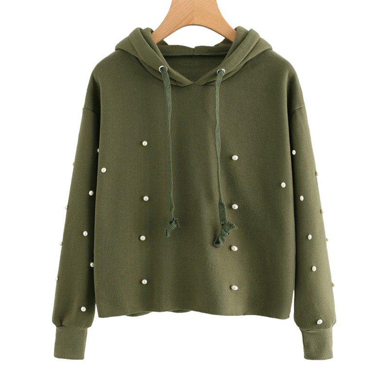 Affordable Beading Long Sleeve Thickning Hoodie