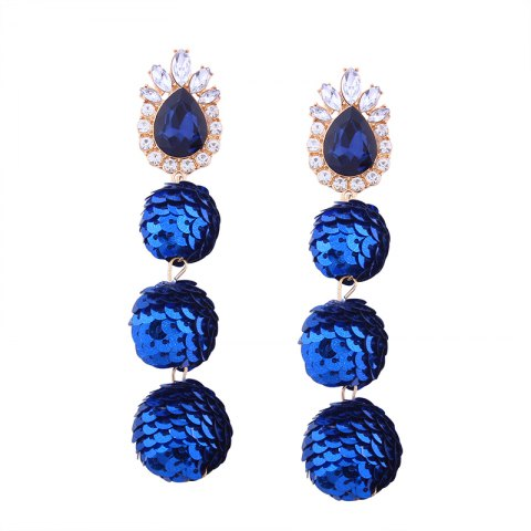 Outfits Sequin Ball Shaped Glass Alloy Rhinestone Earrings
