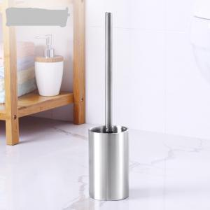 Stainless Steel Durable Toilet Brush Bathroom Cleaning Brush Base WC Cleaning Accessory -