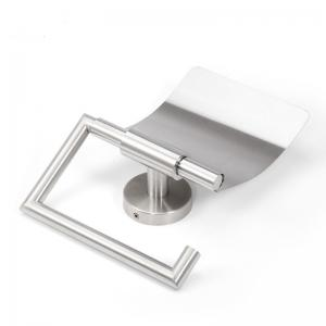 Stainless Steel Bathroom Toilet Paper Holder Punched Case With a Cover Brushed -