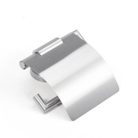Unique Stainless Steel Bathroom Toilet Paper Holder Punched Case With a Cover Brushed